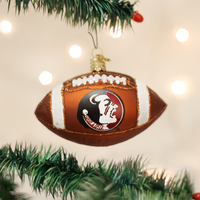 Florida State Seminoles Football Glass Christmas Ornament