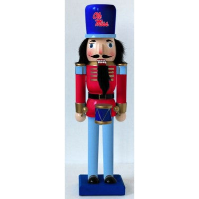 Ole Miss NCAA Nutcracker 14""