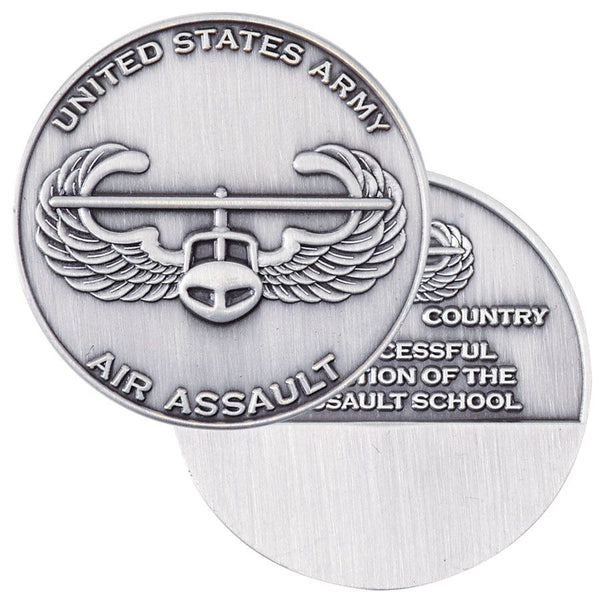 Army Air Assault Engravable Challenge Coin