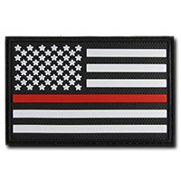 Thin Red Line Tactical Rubber Patch (3 x 2) Black