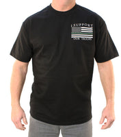 Thin Green Line T-Shirt- Outlaw Threadz Men's Tee Shirt Black