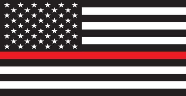 American Flag Thin Red Line Window Decal
