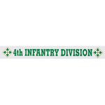 4th Infantry Division Window Strip Decal- 15.5 X 2