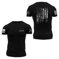 1776 Flag T-Shirt- Grunt Style Men's Tagless Tee Shirt