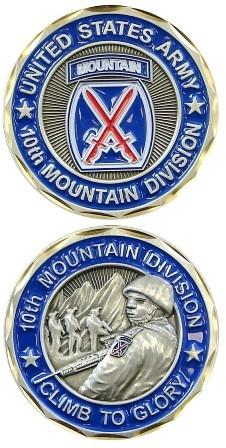 Army 10th Mountain Division Challenge Coin