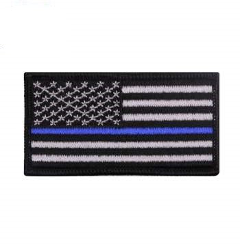 Thin Blue Line Flag Patch - Iron/Sew On
