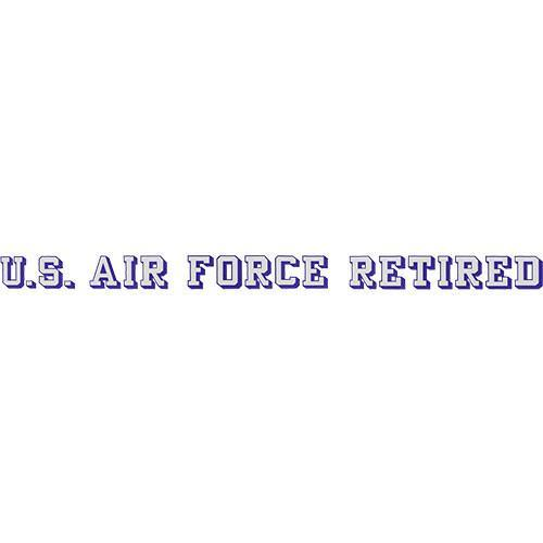 Air Force Retired Window Strip