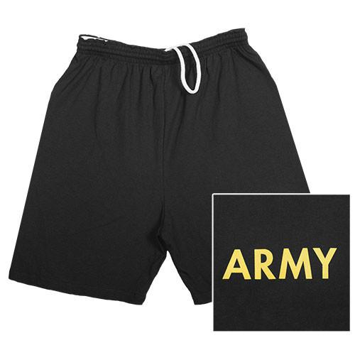 Army Military Branch Running Shorts- Black