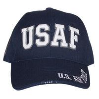 Air Force Glow in the Dark Embroidered Military Baseball Cap- Navy Blue