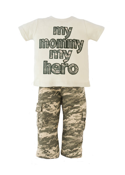 My Mommy My Hero ACU 2 Piece Toddler Pant Set - Star Spangled 1776