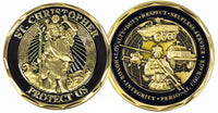 St. Christopher Infantry Challenge Coin - Star Spangled 1776
