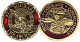 St. Michael Soldier Challenge Coin - Star Spangled 1776