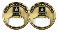 US Army Bottle Opener Army Challenge Coin - Star Spangled 1776