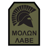 Molon Labe Spartan Embroidered Hook Back Morale Patch