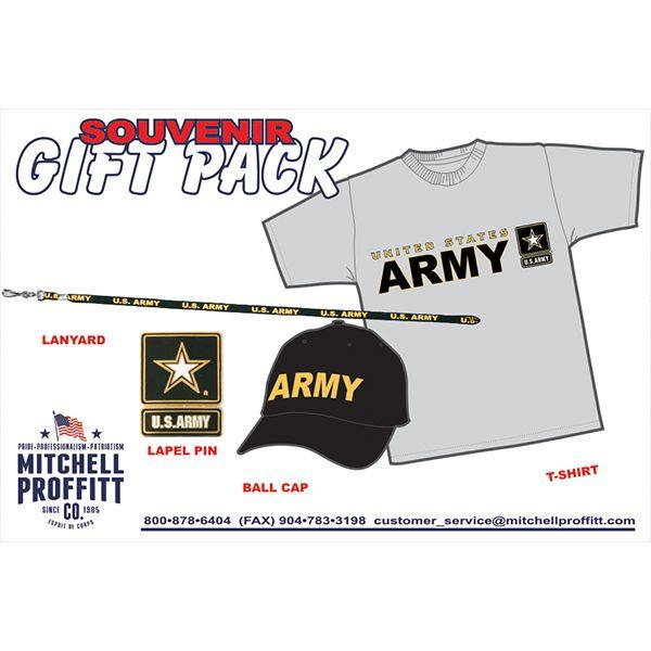 Army Grey T-Shirt & Black Baseball Cap Gift Pack - Star Spangled 1776