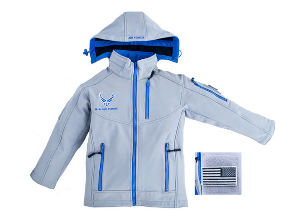 Air Force Embroidered Softshell Youth Jacket - Star Spangled 1776