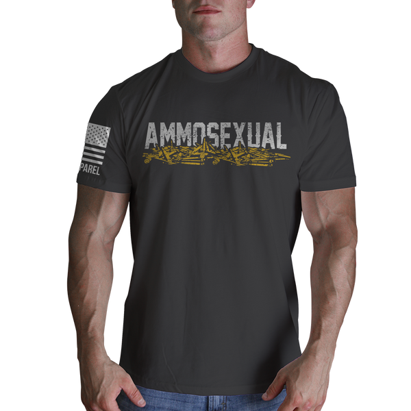 Ammosexual T-Shirt - Nine Line Military Grey Men's Graphic Tee Shirt - Star Spangled LLC