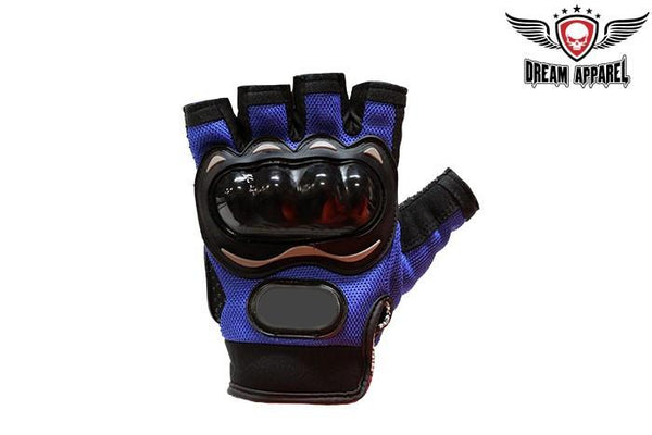 Men's Black Fingerless Mesh Racing Gloves - Star Spangled 1776