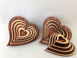 "3"" Laser Cut Heart Shaped Basket With Lid"