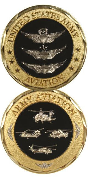 US Army Aviation Wings and Helicopters Army Challenge Coin