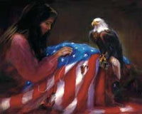 The Vision Patriotic Art Print by Lois Babb- 30 X 24