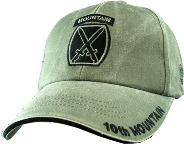 10th Mountain Division OD Embroidered Military Baseball Cap - Star Spangled 1776