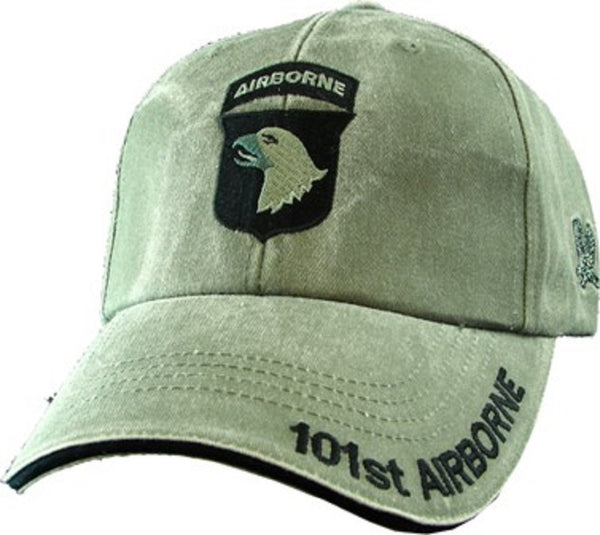 101st Airborne Division Army OD Green Embroidered Baseball Cap - Star Spangled 1776