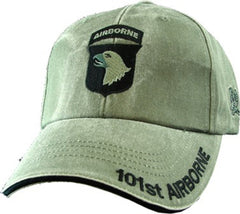 101st Airborne Division Army OD Green Embroidered Baseball Cap