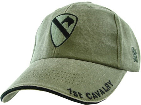 Army 1st Cavalry Embroidered Military Baseball Cap- OD Green 3d9bb7565c9c