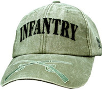 Infantry OD Embroidered Military Baseball Cap - Star Spangled 1776