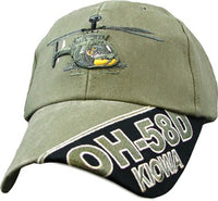 Kiowa Helicopter OH-58D OD Embroidered Military Baseball Cap - Star Spangled 1776
