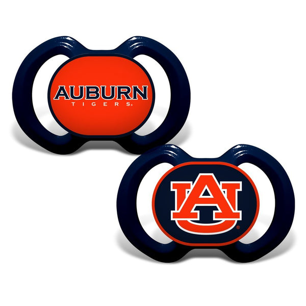 Auburn Tigers NCAA College Team Colored Infant Pacifiers- 2 Pack