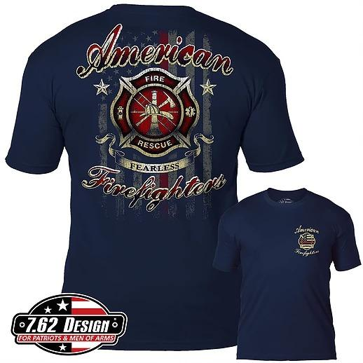 American Firefighters T-Shirt- 7.62 Design Men's Tee Shirt