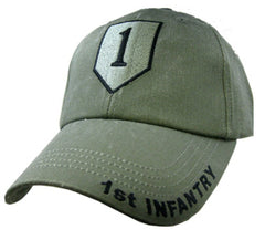 1st Infantry Division OD Embroidered Military Baseball Cap