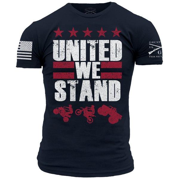 We Stand T-Shirt- Grunt Style Military Men's Navy Blue Tee Shirt