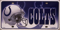 Indianapolis Colts 6 X 12 Metal NFL Team License Plate