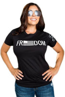 Simply Freedom T-Shirt- Grunt Style Women's Black Tee Shirt - Star Spangled 1776