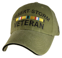 Desert Storm Vet OD Embroidered Military Baseball Cap - Star Spangled 1776