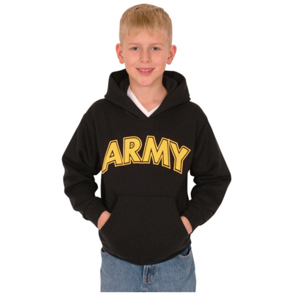 Army Youth Hoodie Sweatshirt - Black - Star Spangled 1776