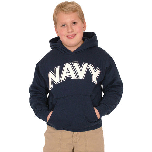 Navy Hooded youth Sweatshirt - Star Spangled 1776