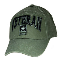 US Army Veteran with Star Logo Embroidered Military Baseball Cap - Star Spangled 1776