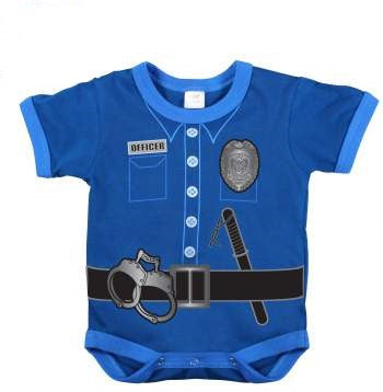 Police Uniform One Piece Cotton Infant One Piece Diaper Shirt