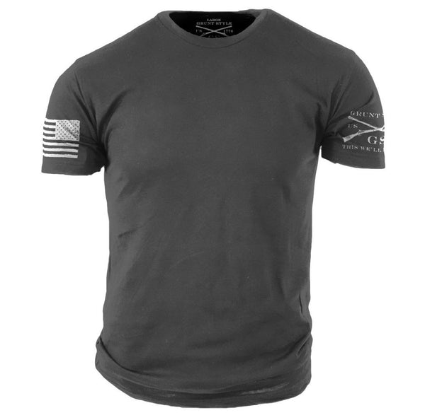 Heavy Metal Basic T-Shirt - Grunt Style Military Men's Basic Grey Tee Shirt