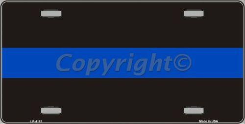 Thin Blue Line Metal Law Enforcement 6 X 12 License Plate