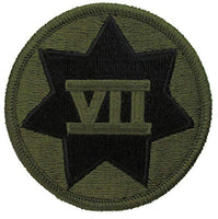 7th Corps Embroidered Round Patch