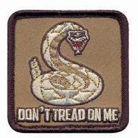 Don't Tread On Me Embroidered Square Hook Back Patch