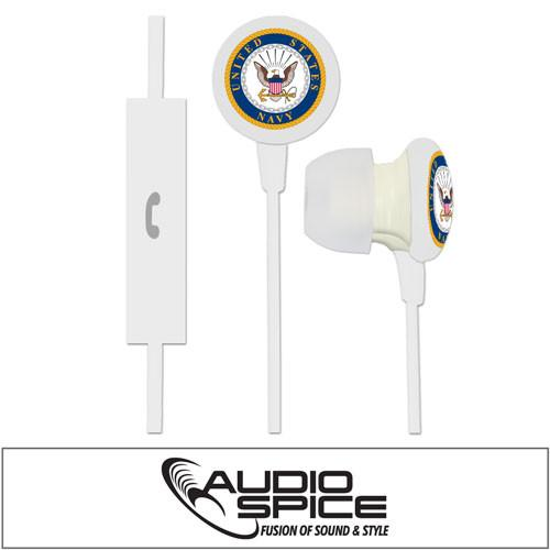 Navy Military Ignition Earbuds Plus Mic