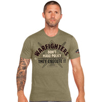 Warfighters Execute Policy T-Shirt- 7.62 Design Military Tee Shirt - Star Spangled 1776