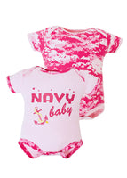 Navy Baby Pink Camo Bodysuits 2pk - Star Spangled 1776