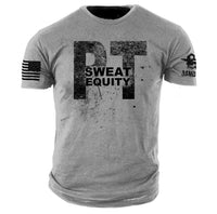 PT Sweat Equity T-Shirt - ASMDSS Grunt Style Grey Graphic Tee Shirt - Star Spangled 1776